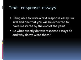 introduction to extended text response structure planning ppt text response essays