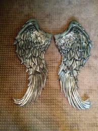 image of handmade angel wings wall decor