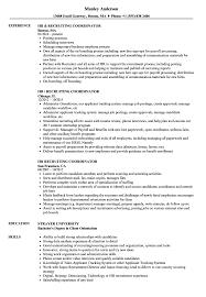 Hr Recruiting Resume Samples Velvet Jobs