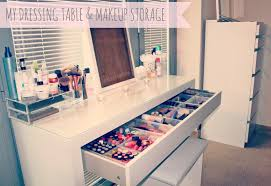 ikea malm dressing table ikea antonius basket inserts makeup storage makeup collection