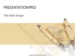 Scroll Powerpoint Template Scroll Powerpoint Template Background In Religious