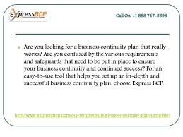 Business Continuity Plan Template SlideShare
