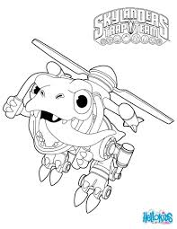 Skylanders Trap Team Coloring Pages Chopper Coloring Pages