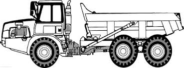 Small Picture Semi Trailer Dump Truck Side View Coloring Page Kids Play Color