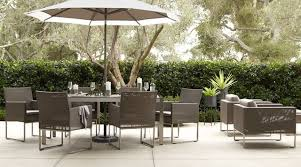 outdoor furniture crate and barrel. Modern Backyard Decor With Crate Barrel Outdoor Dining Sets, High Quality Resin Material, Furniture And O