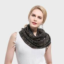 <b>Winfox 2019 New Fashion</b> Black Grey Color Gold Foil Glitter Infinity ...