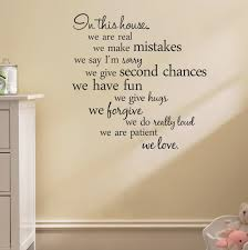 Wall Decor Stickers For Living Room 2015 English Letter In This House Living Room Background Wall