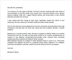 Sample Letter Of Recommendation For Graduate School From