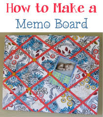 diy memo board at thefrugalgirls com