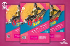 Spring Party Flyer Social Media Free Psd Template