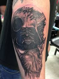 My Mc Escherdarth Vader Tattoo Done By Tom Biggs At The Basement