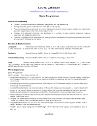 Ideas Of Cover Letter For Game Programmer Job With Additional