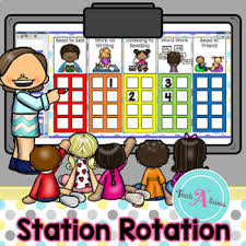 Daily 5 Rotation Chart Daily 5 Station Rotation Chart For Activinspire Promethean Board