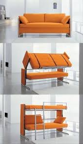 This is a clever convertible couch to bunk bed- perfect for a small  office/guest room.