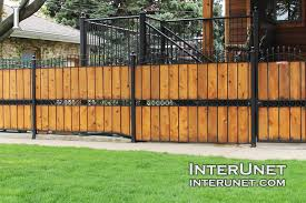 Metal fence design Privacy Woodfencewithsteeldesignideas Interunet Fence Desings Ideas And Styles Interunet