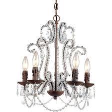 af lighting beloved 5 light bronze mini chandelier