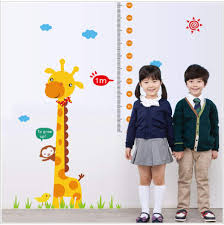 Amazon Com Beyonds Growth Chart For Kids Baby Giraffe Wall
