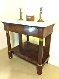12 inch deep console table tables old world d an empire mahogany with gilt bronze mounts