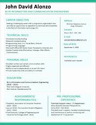 Fresher Resume Formats Free Download Resume For Mca Fresher
