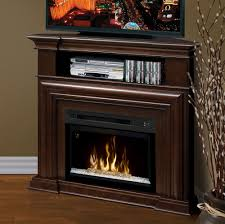 montgomery espresso corner electric fireplace media center with glass embers gds25hg 1057e