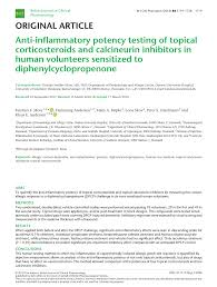 Topical Corticosteroid Potency Chart Pdf Anti Inflammatory Potency Testing Of Topical