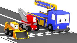 Tiny Trucks The Racing Track Learn With Tiny Trucks Bulldozer Crane