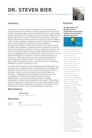 Radiologist Resume Samples Visualcv Resume Samples Database