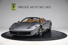 The ferrari 458 speciale starts out at $298,000, which may come as a shock to some, considering its competition. Pre Owned 2012 Ferrari 458 Spider For Sale Special Pricing Mclaren Greenwich Stock 4671