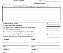 Project Change Order Template Luxury Construction Change Order Template Best Sample Excellent