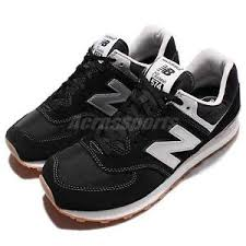 new balance running shoes black. image is loading new-balance-ml574hrm-d-suede-black-silver-gum- new balance running shoes black