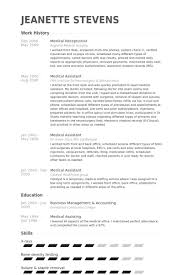 Medical Assistant Resume Template Free Magnificent Medical Receptionist Resume Samples VisualCV Resume Samples Database