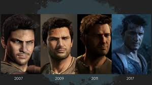 a good exle is the uncharted games if you pare their first game released 2007 10 years ago and the one released this year 2017 you can see how the