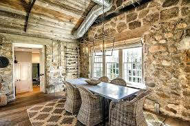 sandstone wall decor stone dining room with cozy cottage charm design and co stones decoration
