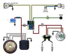 wiring diagram with accessory and ignition cafe racer Mini Chopper Wiring Schematic find this pin and more on xs650 electrical mini chopper wiring schematic