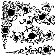 Fancy Patterns Delectable Flower Fancy Pattern Abstract Design Ornament Floral Motifs Stock