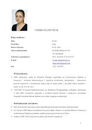 Gallery Of Curriculum Vitae Document