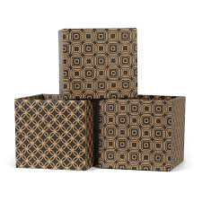 Cardboard Storage Box Decorative Star Pattern Modern Decorative Cardboard Storage Bin 100Pack Sprout 39