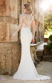 Designer Sheath Wedding Dresses Lace Illusion Sheath Wedding Dress Martina Liana Wedding
