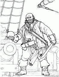 Disegni Da Colorare Pirata Vicino Al Cannone