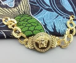 bracelet pendant men hip hop jewelry gold v brand