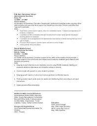 Administrative Secretary Duties Resume