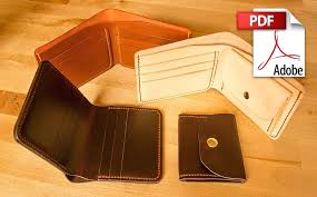 leather wallet pattern template best photo card gift