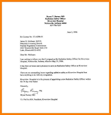 Resignation Letter Template Writing A Letter Of Resignation Examples
