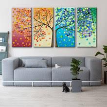 4 Панель Современный Картины На Холсте Без Рамы Модульная
