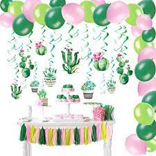 We have you covered with all your festive essentials, starting with hanging party decor. Amazon Com Cactus Party Decorations Set Cactus Hanging Ceiling Swirls Paper Tassel Garland Summer Fiesta Party Kids Birthday Party Supplies Sunbeauty Toys Games