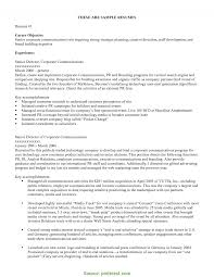 Newest Career Objective For Media Resume Summary Career Objective