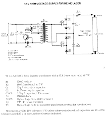 converters dc to ac electronic circuits 12vdc he ne laser supply schematic