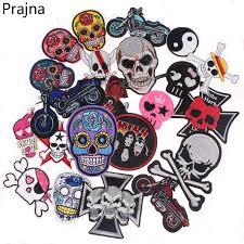 <b>Prajna</b> Mexican Skull <b>Patch Stripe</b> On Clothes Punk <b>Rock</b> Stalker ...