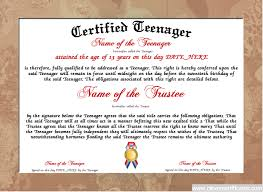 parenting certificate templates teenager certificate designer free certificate templates you can