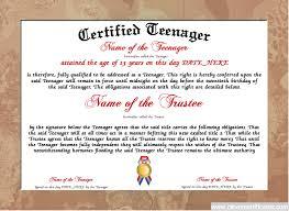 parenting certificate templates teenager certificate designer free certificate templates you can